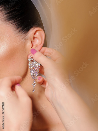 canvas print picture Crystal Earring