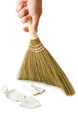 Sweeping broken plate
