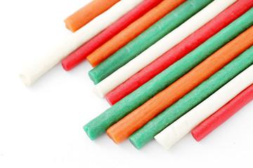 Colorful dog treat