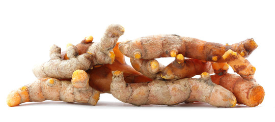 Fresh turmeric isolated on white