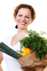 woman bought vegetables