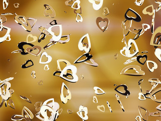 Golden hearts.