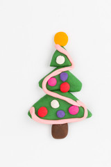 Plasticine christmas tree.