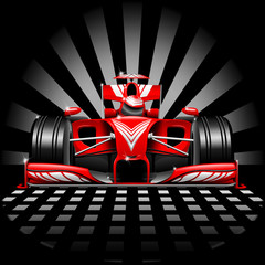 Formula 1 Red Race Car