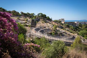 Cagliari, veduta dell'anfiteatro romano