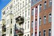 canvas print picture - Berlin Apartment houses