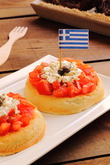 Traditional Greek dakos