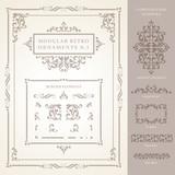 Set of modular Vector Retro Ornaments poster