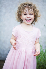 little girl laughing
