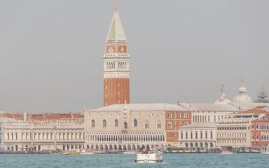 Venedig, Altstadt, Markusturm, Gondeln, Insel, Frühling, Italien