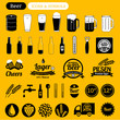 beer icons & design elements, vintage labels, signs - 67572724