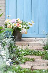 玄関 玄関ドア 扉 花