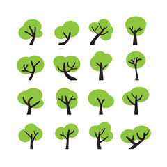 tree icon set, vector eps10