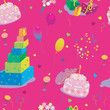 seamless texture to the birthday on pink background