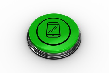 Composite image of smartphone graphic on button