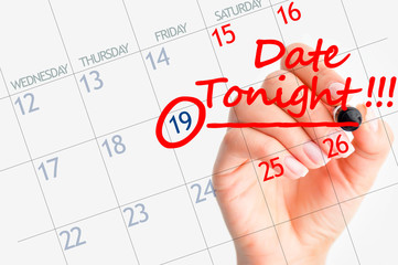 First date reminder on calendar