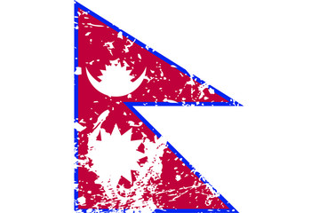Decayed flag of Nepal