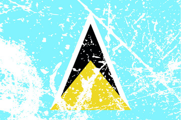 Decayed flag of Saint Lucia