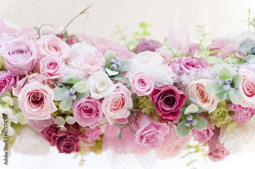 Fotobehang Roses プリザーブドフラワー バラ ピンクのバラ