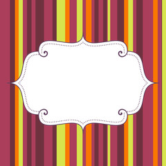 empty birthday poster on seamless stripes pattern background