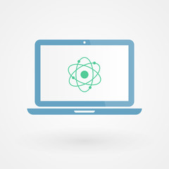 Laptop and atom icon