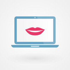 Laptop and lips