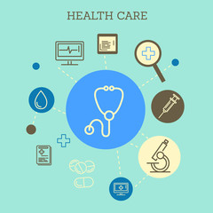 health care flat template