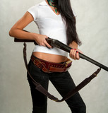 girl with and hunting rifle 19 poster