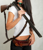 girl with and hunting rifle 15 poster