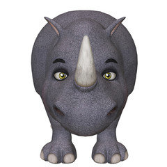 3d cartoon rhino