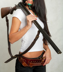 girl with and hunting rifle 15