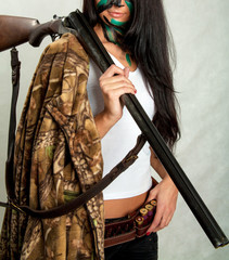 girl with and hunting rifle 14