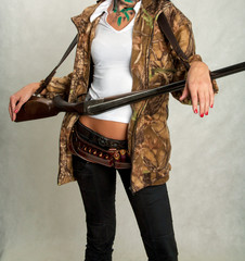 girl with and hunting rifle 13