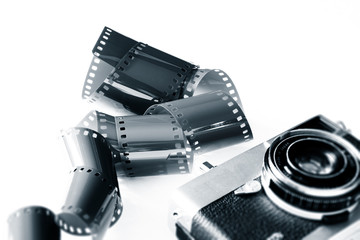 retro photography film and camera
