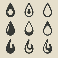 drop icon set
