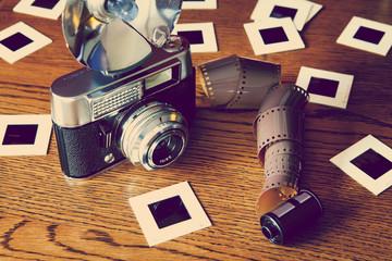 old camera film slides