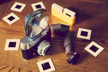 vintage camera film slides