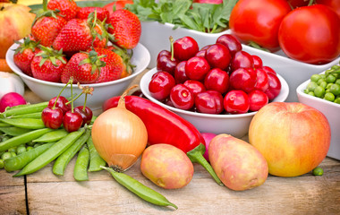 Organic fruits and vegetable