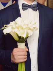 Gromm with Calla Bouquet