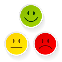 Smileys Green/Yellow/Red