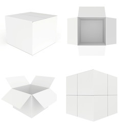 set white carboard box