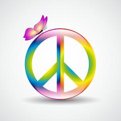 symbol peace kunterbunt