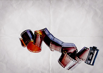 camera film paper background