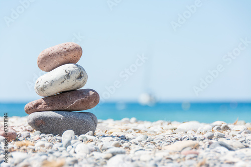 Foto op Aluminium Strand Relaxing on the beach