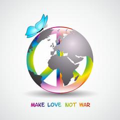 symbol peace kunterbunt erde