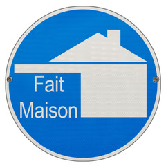 """logo restaurant """"fait maison"""" sur plaque enseigne"""