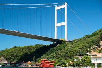 Fatih Sultan Mehmed Bridge at Istanbul - Turkey