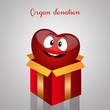 Funny heart for organ donation