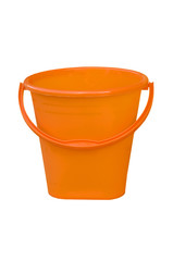 orange bucket on a white background