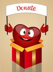 Funny heart for organ donation